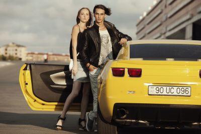 Roza Zərgərlinin model oğlunun bahalı avtomobili  FOTOLAR