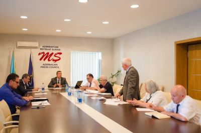 Mətbuat Şurasının Komissiyası toplandı FOTO