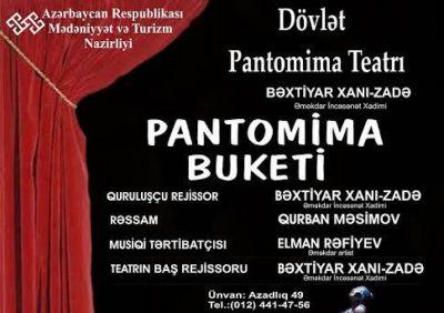 """Teatrsevərlərə """"Pantomima buketi"""""""