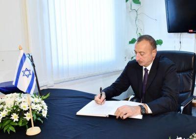 Президент Азербайджана посетил посольство Израиля
