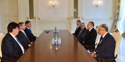 Ильхам Алиев принял президента УЕФА