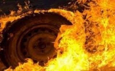 """""""UAZ"""" və elektrik sayğacları yandı"""