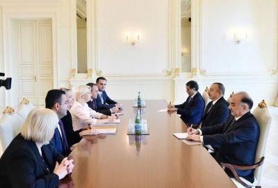 Президент Азербайджана принял председателя Сейма Латвии