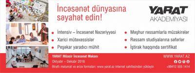 """""""YARAT Akademiyası"""" ərizə qəbuluna başlayıb"""