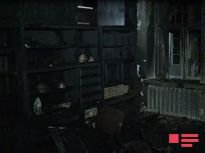Zaqatalada 8 otaqlı ev yandı