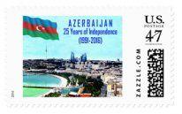 Müstəqilliyimizin 25 illiyinə həsr olunmuş poçt markası buraxılıb