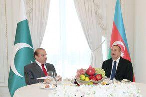 От имени Ильхама Алиева дан официальный обед в честь премьер-министра Пакистана