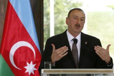 Ильхам Алиев выступил на приеме по случаю 25-й годовщины независимости