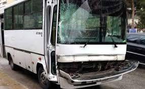 Şərnişin avtobusu qəzaya uğradı