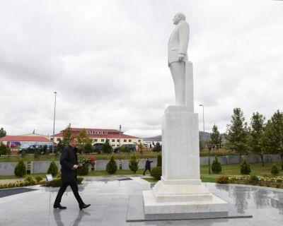 Prezident Ağstafa rayonuna səfərə gedib  FOTOLAR
