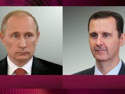 Vladimir Putin və Bəşər Əsəd arasında telefon danışığı olub