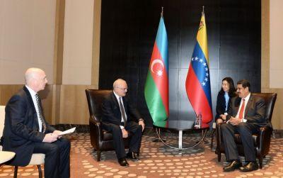 Artur Rasizadə Venesuela prezidenti ilə görüşüb FOTO