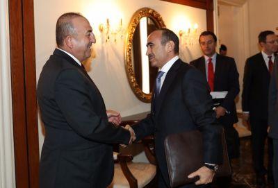 Əli Həsənov Türkiyənin xarici işlər naziri Mövlud Çavuşoğlu ilə görüşüb