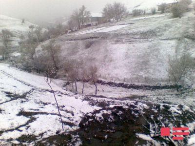 Lerikin 70-ə yaxın yaşayış məntəqəsinə qar yağıb