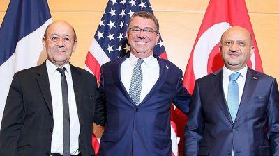 Brüsseldə Türkiyə, Fransa və ABŞ müdafiə nazirləri görüşüblər