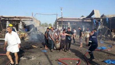Bağdad bazarında dəhşətli partlayış: 8 nəfər öldü