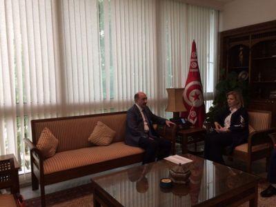 Əbülfəs Qarayev Tunis turizm və əl işləri naziri ilə görüşüb FOTO