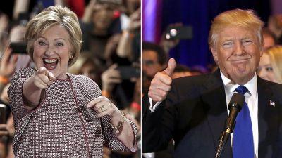 Tramp Klintonu keçdi BİR FAİZ