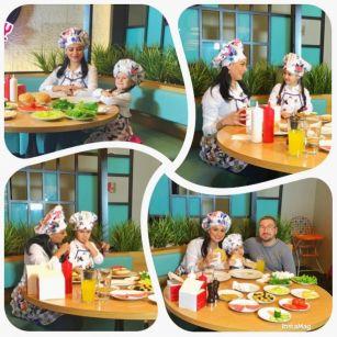 Azərbaycanlı aparıcı qızı ilə restoranların birində aşpazlıq etdi FOTOLAR