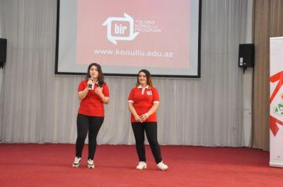 """""""Bir"""" Tələbə-Könüllü Proqramının təqdimat mərasimi keçirilib"""