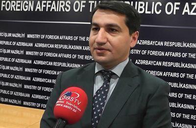 """Hikmət Hacıyev: """"Qarabağın adının dəyişdirilməsi Ermənistanın aldadıcı siyasətidir"""" AÇIQLAMA"""