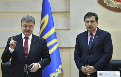 """Pyotr Poroşenko: """"Saakaşvili müxalifətin xeyrinə seçim edib"""""""