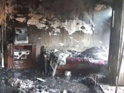Goranboyda 3 otaqlı ev yanıb