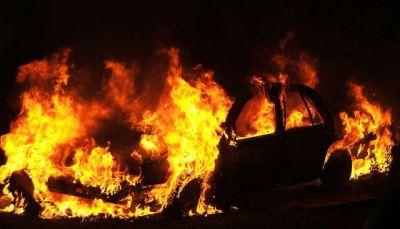 """Xətai rayonunda """"Hyundai"""" markalı avtomobili yanıb"""