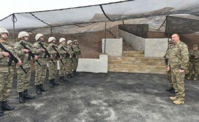Президент Азербайджана на линии фронта