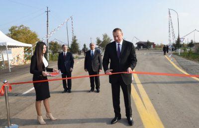Beyləqanda avtomobil yolu yenidənqurmadan sonra istifadəyə verilib