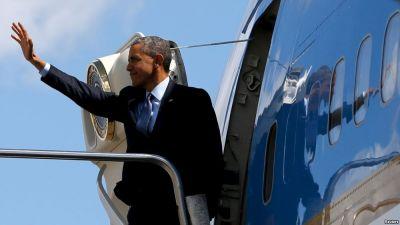 Barak Obama vida səyahətinə başlayır