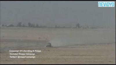 İŞİD-in partlayıcı yüklənmiş avtomobili son anda vuruldu