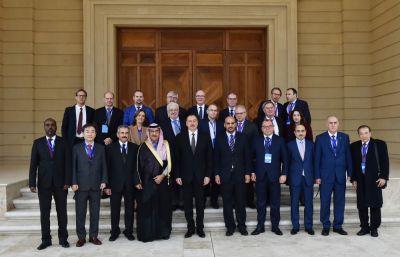 Президент Азербайджана принял участников V Конгресса мировых новостных агентств Фотографии