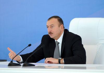 """Ильхам Алиев: """"Как можно ограничить свободу прессы, если в Азербайджане действует свободный Интернет"""""""