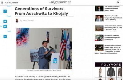 The Algemeiner: Поколение выживших геноцид: От Аушвица до Ходжалы