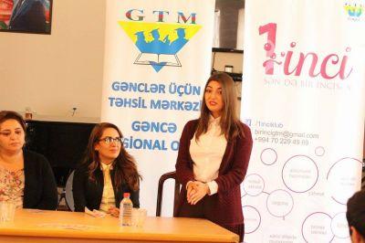 """Gəncədəki universitetlərdə """"1inci klub""""un təqdimatı keçirilib FOTOLAR"""