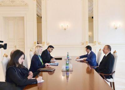 Prezident İlham Əliyev Bridcet Brinki qəbul edib  (YENİLƏNİB) FOTO