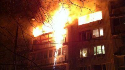 Пожар в столице,есть жертва