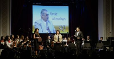 Xalq Artisti Ramiz Mustafayevin xatirəsinə həsr olunan musiqili gecə keçirilib