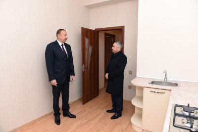 Prezident yeni yaşayış binasının açılışında  FOTOLAR