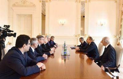 Prezident İlham Əliyev Rusiyanın təhsil və elm nazirini qəbul edib