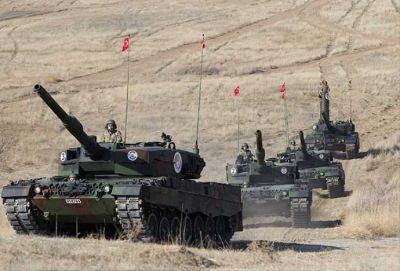 Türk tankı İŞİD terrorçularını belə vurdu