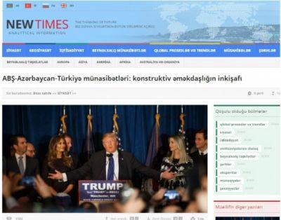 ABŞ-Azərbaycan-Türkiyə münasibətləri: konstruktiv əməkdaşlığın inkişafı