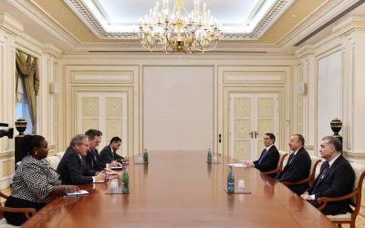 Президент Азербайджана принял представителей Министерства торговли США
