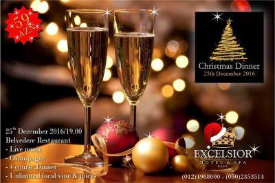 """В отеле """"Excelsior Hotel & Spa Baku состоится рождествнский вечер"""