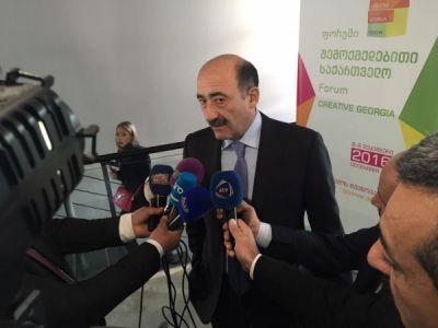 """Əbülfəs Qarayev Tbilisidə keçirilən """"Yaradıcı Gürcüstan"""" Forumunda  - FOTOLAR"""