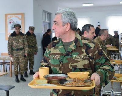 Саргсян отправился в Карабах
