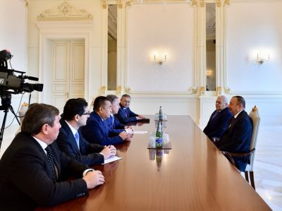 Ильхам Алиев принял председателей парламентов Турции, Казахстана и Кыргызстана