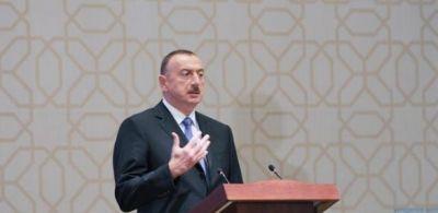 Ильхам Алиев принимает участие в церемонии, посвященной спортивным итогам 2016 года