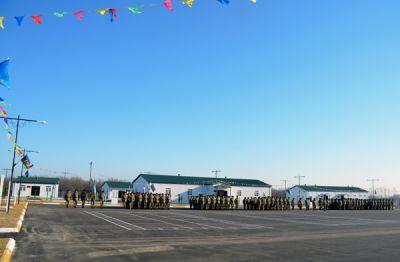 В прифронтовой зоне сдан в эксплуатацию новый военный городок Фотографии
